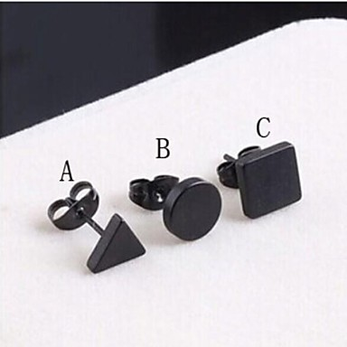 Men's Stud Earrings - Titanium Steel A / B / C For Wedding / Party / Daily