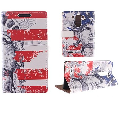 Design of The Statue of Liberty PU Full Body Case with Card Slot for LG G3