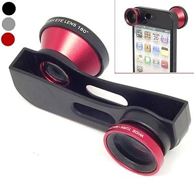 1 Geniş Açı Lens Hızlı Değişim 3, Makro Lens ve iPhone için 180 Fish Eye Lens Kit Seti 5/5 (Karışık Renkli)
