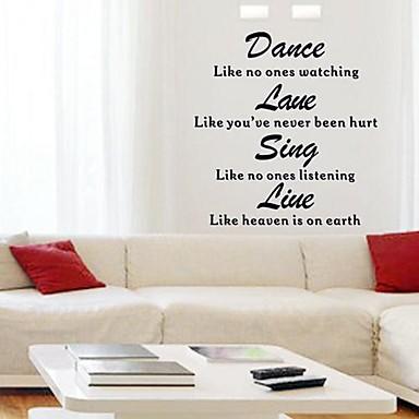 wallstickers citater på engelsk Doudouwo ® Ord og citater De engelske ord Wall Stickers 1604506  wallstickers citater på engelsk