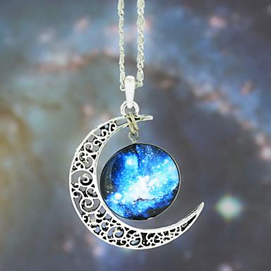 Kadın's Uçlu Kolyeler - Moda Mavi Kolyeler Mücevher Uyumluluk Düğün, Parti, Günlük