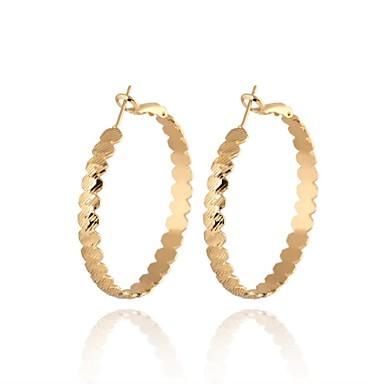 plaqué or nouveau l'arrivée de 18k de femmes de la mode forme ronde boucles d'oreilles de conception classique er0336