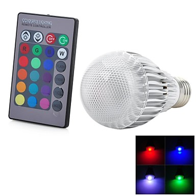 1 buc 5 W Bulbi LED Inteligenți 300-500 lm E26 / E27 1 LED-uri de margele LED Integrat Telecomandă Decorativ culoare Gradient RGB 85-265 V / RoHs