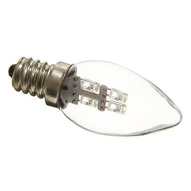 0.5W 15-20 lm E12 LED Mum Işıklar C35 3 led Dekorotif Doğal Beyaz AC 220-240V