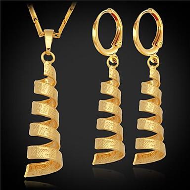 Kadın's Takı Seti - Platin Kaplama, Altın Kaplama Moda Dahil etmek Gümüş / Altın Uyumluluk Düğün Parti Özel Anlar / Kolczyki / Kolyeler