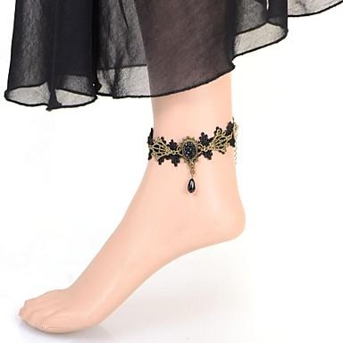 Kadın Ayak bileziği İmitasyon İnci Dantel Değerli Taş Bakır Mücevher Uyumluluk Düğün Parti