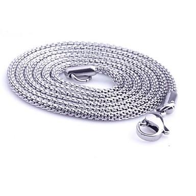 Zincir Kolyeler Mücevher Yılan Titanyum Çelik Eşsiz Tasarım Moda Kişiselleştirilmiş Mücevher Uyumluluk Günlük Yılbaşı Hediyeleri