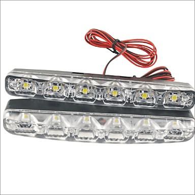 2pcs Araba Ampul 3W SMD LED 90lm 6 LED Güzdüz Çalışma Işığı