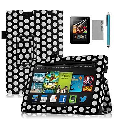 coco fun® negru de design puncte carte pu caz de piele cu protector de ecran și stylus pentru 7