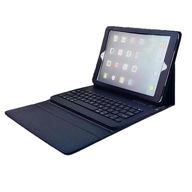 Pouzdro Uyumluluk iPad Air 2 / iPad Air Satandlı / Klavyeli / Flip Tam Kaplama Kılıf Solid Sert PU Deri için