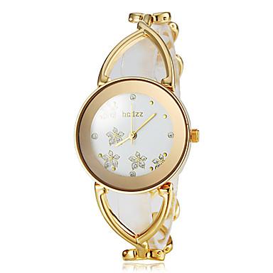 Kadın's Bilek Saati Bilezik Saat Moda Saat Japonca Quartz Büyük indirim Alaşım Bant Çiçek Zarif Beyaz Altın Rengi