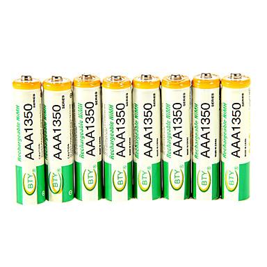 Ni-mh aaa 1.3v şarj edilebilir pil 8pcs BTY 1350mAh