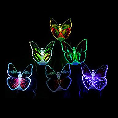 gece ışık dekorasyon ışık 12pcs parlak renkli led kelebek ışık (rastgele renk)