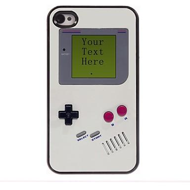 iphone 4 / 4s için kişiselleştirilmiş hediye oyun konsolu tasarımı metal kasa