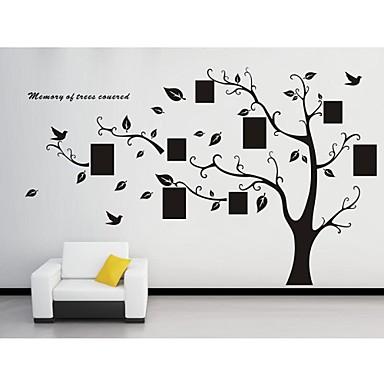 Botânico Adesivos de Parede Autocolantes de Aviões para Parede Autocolantes de Parede Decorativos, Vinil Decoração para casa Decalque