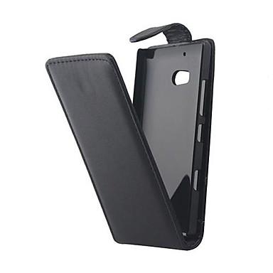 Pouzdro Uyumluluk Nokia Nokia Lumia 930 Nokia Kılıf Flip Tam Kaplama Kılıf Tek Renk Sert PU Deri için