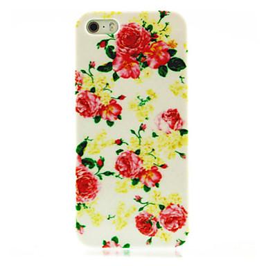 IPhone 4/4S için Gül Çiçek Desen Hard Case