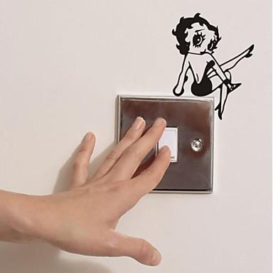 Eski Tip Duvar Etiketler Uçak Duvar Çıkartmaları Işık Düğmesi Çıkartmaları, Vinil Ev dekorasyonu Duvar Çıkartması Duvar