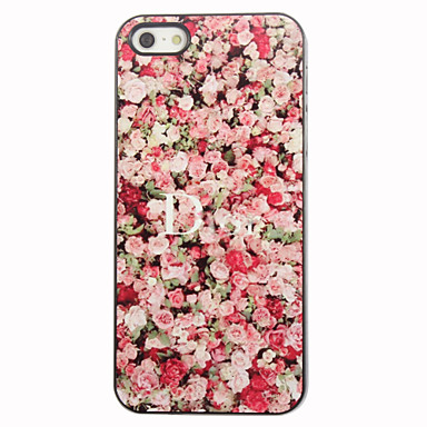 Red Rose Pattern Aluminum Hard Case for iPhone 4/4S