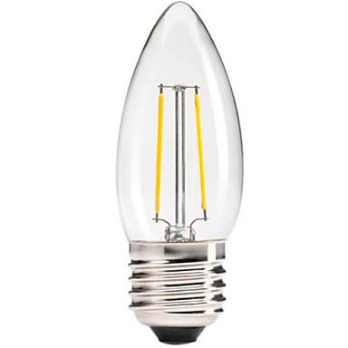 1pc 400 lm E26/E27 LED Filaman Ampuller C35 led COB Kısılabilir Dekorotif Sıcak Beyaz AC 220-240V