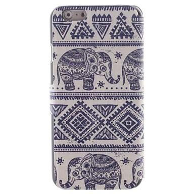 Pentru Carcasă iPhone 6 / Carcasă iPhone 6 Plus Titluar Card / Cu Stand / Întoarce / Model Maska Corp Plin Maska Elefant Greu PU piele