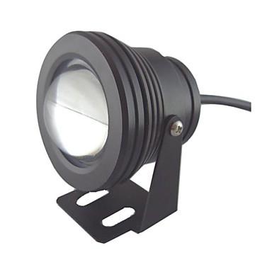 10w 1 ledde IP68 vattentät utomhus vita LED-spot lampa under vattnet lampa (12v)