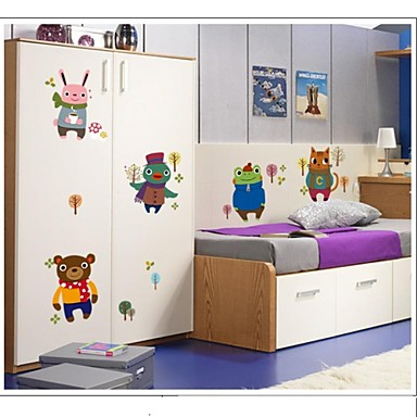 doudouwo® muurstickers muur stickers, dieren creatieve winter kleine dieren pvc muurstickers