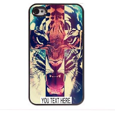 εξατομικευμένη υπόθεση τίγρη μεταλλικό μοτίβο περίπτωση για το iphone 4 / 4s