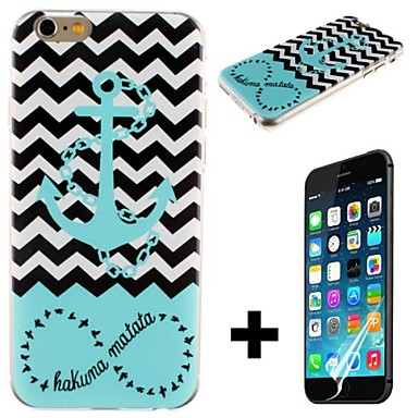 Waves Of the Sea Anchor Pattern Hard with Screen Protector Cover for iPhone 6 Plus