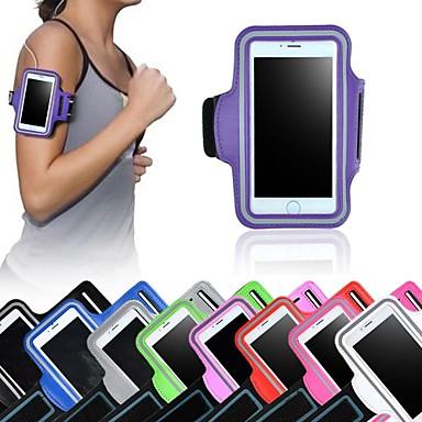 voordelige Universele hoesjes & tasjes-hoesje Voor iPhone 6s Plus / iPhone 6 Plus / Universeel met venster / Armband Armband Effen Zacht tekstiili