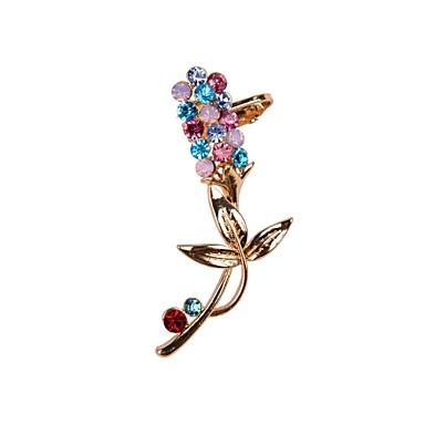 Γυναικεία Χειροπέδες Ear Πολύχρωμα Στρας Κράμα Λουλούδι Κοσμήματα Γάμου Πάρτι Καθημερινά Causal Αθλητικά