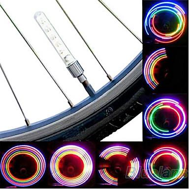 رخيصةأون اضواء الدراجة-LED اضواء الدراجة اضواء الدراجة أضواء عجلة ركوب الدراجة بطاريات خلية البطارية أخضر / IPX-4