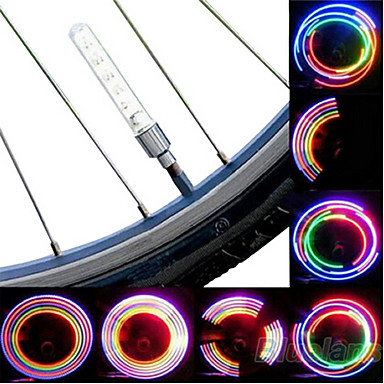 cheap Bike Lights-LED Bike Light Bike Light Valve Cap Flashing Lights Wheel Lights Cycling Cell Batteries Battery Cycling / Bike / IPX-4