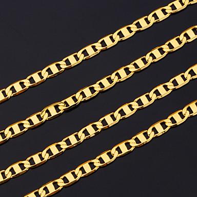 billige Mode Halskæde-Herre Baht-kæden Kædehalskæde Guldbelagt Damer Dubai Guld Halskæder Smykker Til Julegaver Fest
