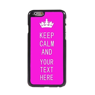 gepersonaliseerd geval steeg houd kalm ontwerp metalen behuizing voor de iPhone 6 (4.7