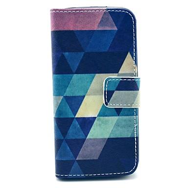hoesje Voor iPhone 5 Apple iPhone 5 hoesje Kaarthouder Portemonnee met standaard Flip Patroon Volledig hoesje Geometrisch patroon Hard