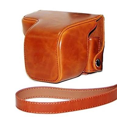 pele óleo protetor câmera caso tampa bolsa de couro dengpin® com alça de ombro para Sony NEX-6 nex6