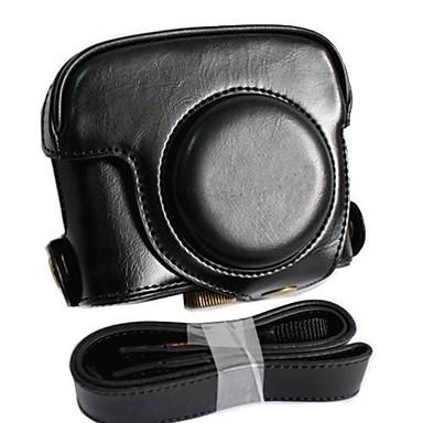 couro dengpin® tampa do saco de proteção câmera caso destacável cobrando estilo com alça de ombro para Canon PowerShot G16