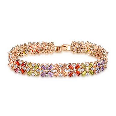 roxi suíço 14kgp cz pulseira flor luxo coração seta cuting jóias colorfull definido para a rainha