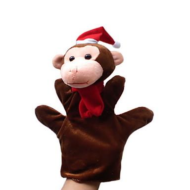 Macaco Fantoches de dedo Fantoches Fantoche Fofinho Adorável Novidades Desenho Têxtil Felpudo Para Meninas Para Meninos Dom