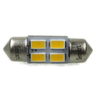 Festoon Mașină Alb Cald 2W SMD 5730 3000-3500 Lumini de citit