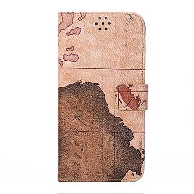voor de iPhone 7 de wereldkaart lederen beschermhoes flip cover voor iPhone 6 plus
