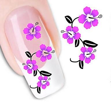 1 pcs 3D Nail Stickers Water Transfer Sticker nail art Manicure Pedicure Flower / Fashion Daily