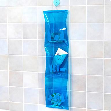 1pc Çok-fonksiyonlu Depolama Moda Plastik PVC Banyo Gereçleri