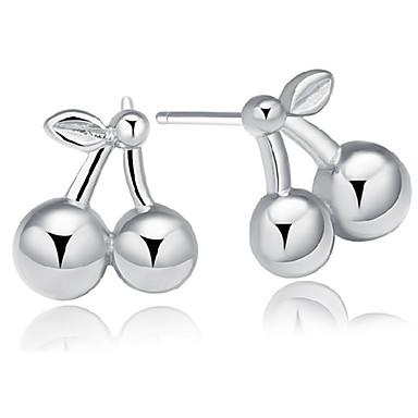 Dames Oorknopjes Sterling zilver Kersen Fruit Sieraden Voor