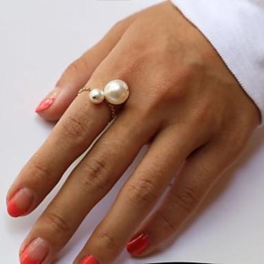 Ringen Modieus Feest Sieraden Parel Dames Midiringen 1 Set,One-Size Gouden