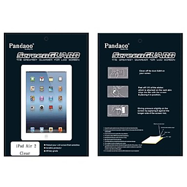 pandaoo hoge transparante screen protector met een reinigingsdoekje voor ipad lucht 2