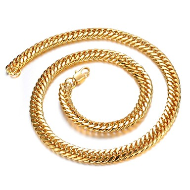 personalitate dominatoare 18k aur placare om colier de aur