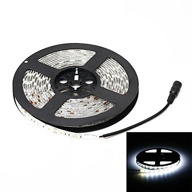 impermeável 72W 3000lm 6000k 300 SMD 5050 LED branco faixa de luz (5m / DC 12V)
