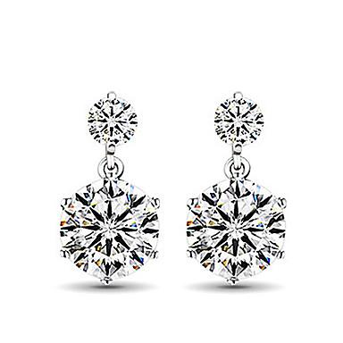 Dames Oorknopjes Modieus Sterling zilver Gesimuleerde diamant Sieraden Schermkleur Dagelijks Kostuum juwelen